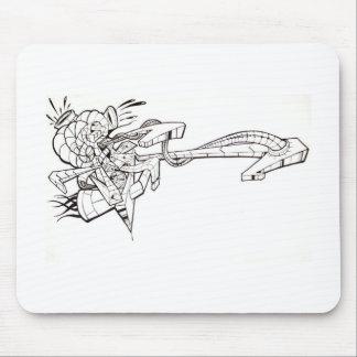 Graffiti Satellite Mouse Pad
