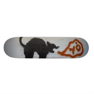 Graffiti skate cat. skateboard