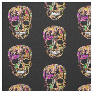 Graffiti skull fabric