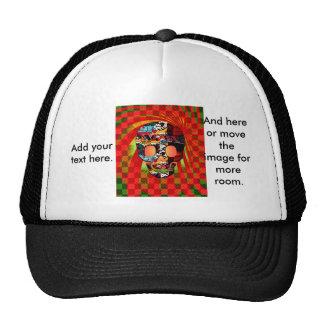 graffiti skull trucker hat