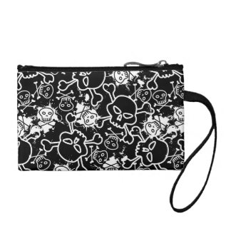 Graffiti skulls coin purse