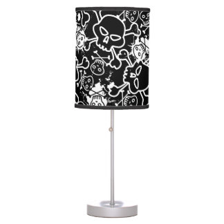 Graffiti skulls table lamp