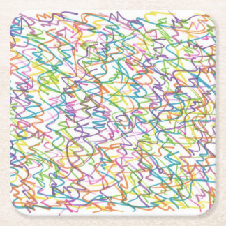 Graffiti Splatter Abstract Pattern Square Paper Coaster