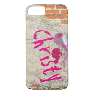 Graffiti Spray Paint Name Brick Design Case