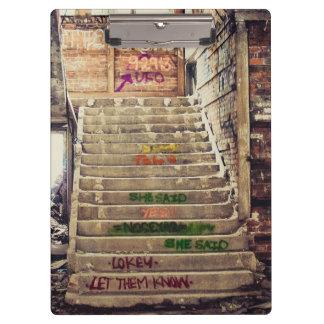 Graffiti stair case clipboard