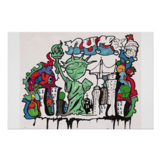 graffiti statue of liberty poster