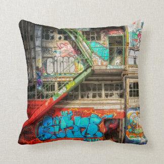 Graffiti Street Art Abandoned Building  Pillow