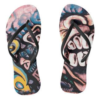 Graffiti Style 3 Flip Flops