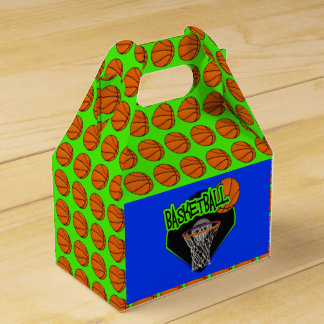 Graffiti Style Basketball and Hoop Favor Box