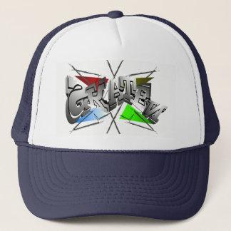 Graffiti style cap for Skater in Weis blue