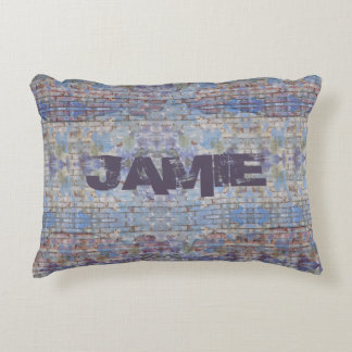 Graffiti Style Personalized Accent Pillow