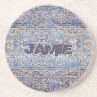 Graffiti Style Personalized Sandstone Coaster