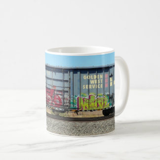 Graffiti Train - Blue Freight Train mug