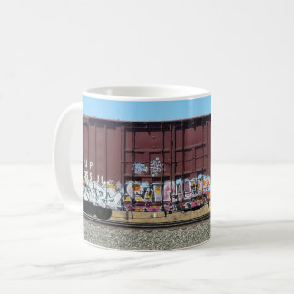 Graffiti Train - Rust Freight Train mug