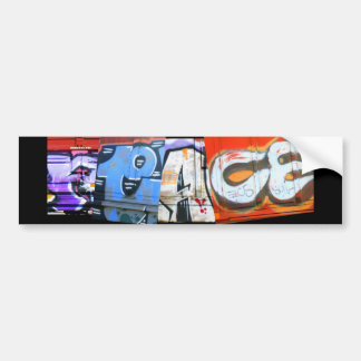 Graffiti Trains Peace Bumper Sticker