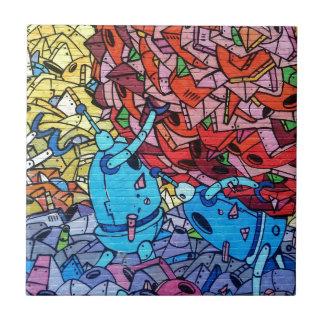 Graffiti Urban Painting Abstract Tile