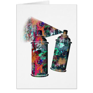 Graffiti Wall and Spray Paint Splatter Card