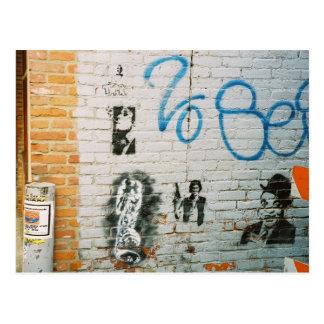 Graffiti Wall Postcard