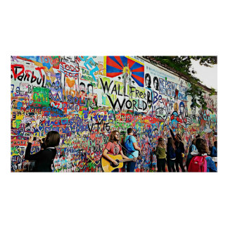 Graffiti Wall street Musicians and Artists Poster