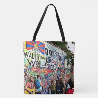 Graffiti Wall street Musicians and Artists Tote
