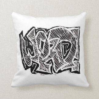Graffiti Word Throw Pillow