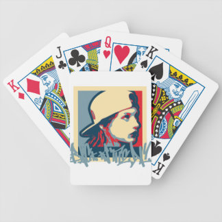 Graffiti Writer Hiphop Vintage Oldschool Art Crime Bicycle Playing Cards