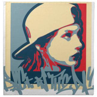 Graffiti Writer Hiphop Vintage Oldschool Art Crime Napkin