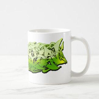 Graffitti Green Customizable Design Coffee Mug