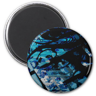 GRAFFITTI THREE 2 INCH ROUND MAGNET