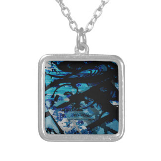 GRAFFITTI THREE SILVER PLATED NECKLACE