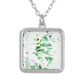 GRAFFITTI TWO SILVER PLATED NECKLACE
