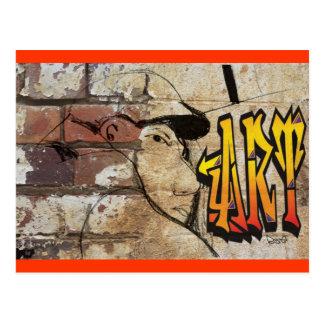 Grafiti Artist Postcard