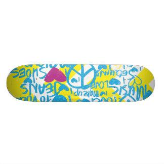 Grafitti Aqua-Purple Skate Boards