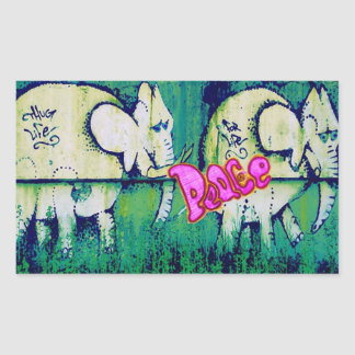 grafitti elephants sticker