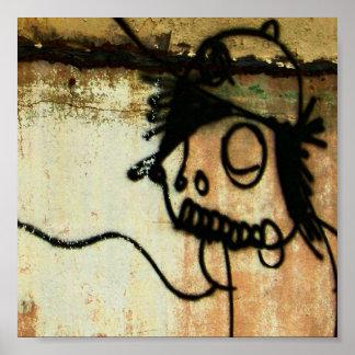 grafitti figure poster