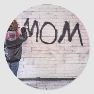 Grafitti For Mom Classic Round Sticker