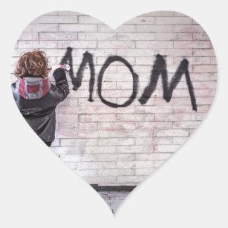Grafitti For Mom Heart Sticker