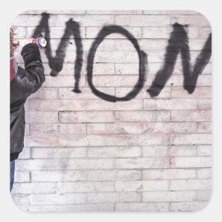 Grafitti For Mom Square Sticker