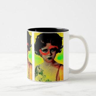 Grafitti Goddess Two-Tone Coffee Mug