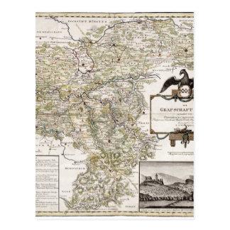 Grafschaft Mark 1791 Friedrich - Old map Postcard