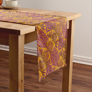 Grafton Yellow and Purple Short Table Runner