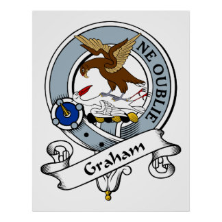 Graham Clan Badge Poster