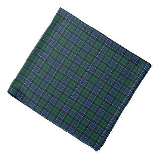 Graham Clan Tartan Dark Blue and Green Plaid Bandana