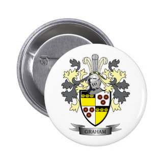 Graham Family Crest Coat of Arms 2 Inch Round Button