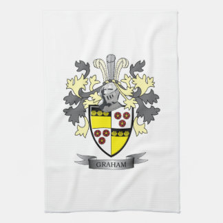 Graham Family Crest Coat of Arms Kitchen Towel