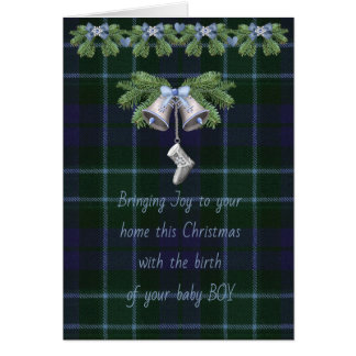 Graham MentiethTartan Christmas Baby Boy Card