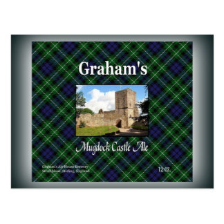 Graham's Mugdock Castle Ale Postcard