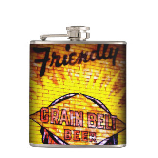 Grain Belt Beer Flask