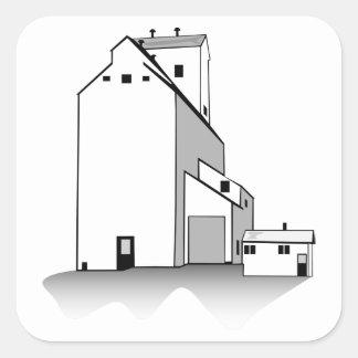 Grain Elevator Square Sticker