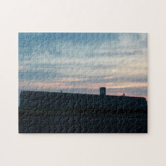 Grain Factory at Sun Set Jigsaw Puzzle